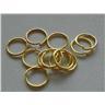 14st Guldfärgade Jump-rings 8mm - Modell 4904