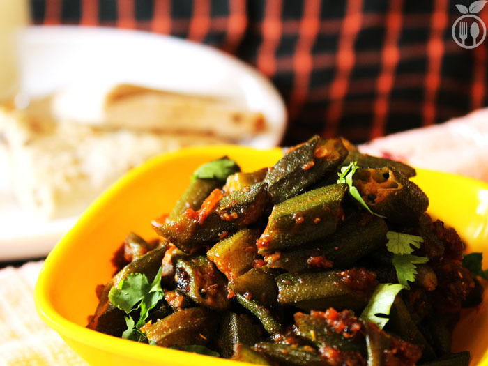 Indian Dry Spicy Okra | Bhindi Masala Recipe
