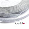 Band 6mm - silverband - 20 meter rulle silver organzaband jul