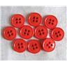 10 st nya 16 mm lingon röd plastknappar