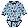 Ny metoo st 56 baby body i blått med segelbåtar