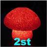 NY! 2st svamplampa nattlampa svamp till barnrummet/lekstugan