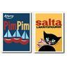 2-pack posters PimPim och Salta Katten