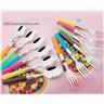 NY! 12-delar Koreanska Colorful gaffel, sked Barnbestick Set