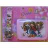 Girls BRATZ dolls Set Klocka + Plånbok ROSA KP1