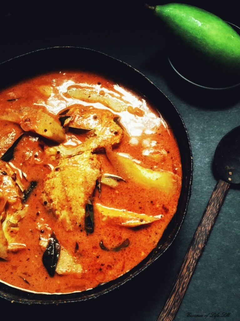 how to make raw fish curry