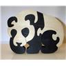 PUSSEL i trä, Panda