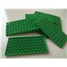 Lego 6 x 12 plattor, 3028, ljus gröna, nya, 10 st (B)