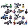 8 st Superhjältar + Fordon LEGO-kompatibla