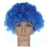 SKU00100 Rainbow Afro Clown Hair Football Fan Adult Child kostym Curly Wig