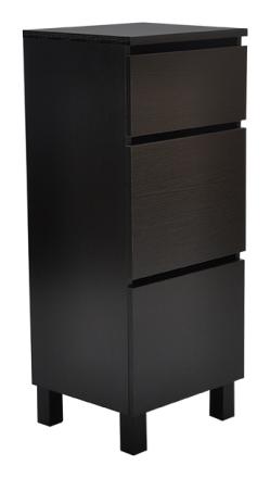 Box byrå hög / smal / 3 lådor - svar