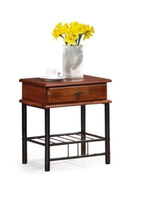 Vivian sängbord - antik körsbär/svar
