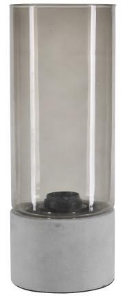 Betong bordslampa - Betong / Glas