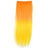 Mizzy Löshår rakt 5 Clip on dip dye - Orange & Gul
