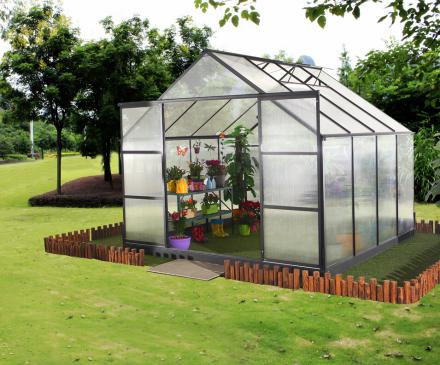 Växthus 7,2m² 6mm Kanalplast