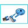 Platt/Flat USB kabel för iPhone 4 4S 3G iPod 1m Blå