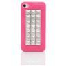 Skal iPhone 4/4S - Nitrad mörkrosa