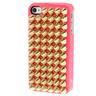 Skal iPhone 4/4S - Guldnitar spetsiga rosa