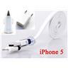 *OrangeStore * iPhone 5,iPad 4/Mini Laddare+1M USB Kabel+Bil-Laddare Vit