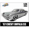 1967 Chevrolet Impala SS silvermetallic skala 1:24