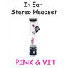 In Ear Stereo Headset för iPhone 2G, 3G, 3GS, iPhone 4, 4S, iPhone 5 VIT & PIN