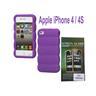 1 st Silikon Case för Apple iPhone 4 / 4S - LILA + 1 st Skärmskydd