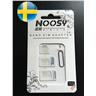 Noosy 3 in1 VIT SIM adaptrar / Nano SIM / Micro SIM