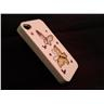 Apple Iphone 4 4S Fodral Skal Case Med Beads (2 Butterflys) Vit