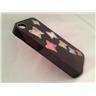 Apple Iphone 4 4S Fodral Skal Case Med Beads (7 Butterflys) Svart