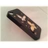 Apple Iphone 4 4S Fodral Skal Case Med Beads (Butterfly) Svart