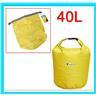 40L Vattentät Packpåse för Kanot Kajak Rafting Camping Gul