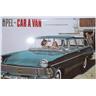 Nostalgi Retro Plåtskylt Opel Caravan