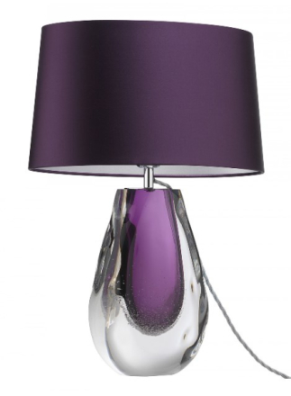 Heathfield & Co Anya Violett Bordslampa
