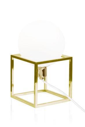 Globen Lighting Cube Bordslampa Mässing