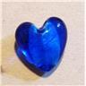 2st 22mm foilhjärtan blått