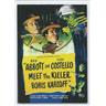 VINTAGE MOVIE POSTER SAMLARKORT- ABOTT AND COSTELLO MEET THE