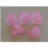 500st Akrylpärlor Änglakjolar Blommor Rosa - Modell 8205
