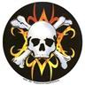 Tribal Flames Crossbones Döskall dekal för hjälmen, moppen m.m!