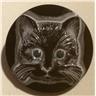 Tjeckisk glasknapp 27mm, katt