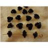 Aluminum Flower Beads 6x4.5mm 25 st ** Svart