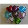 10st Glaspärlor Hjärtan Lampwork 11,8mm Blandade Färger