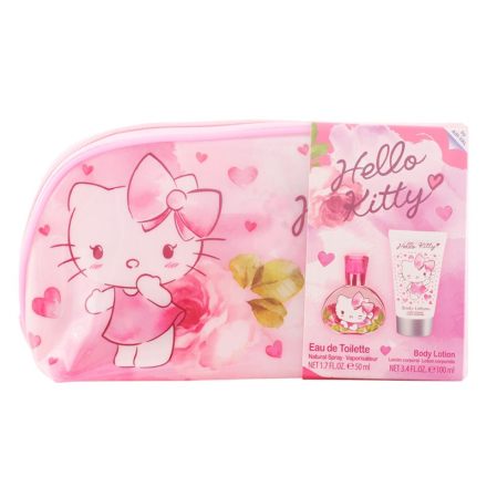 Hello Kitty Bundle Pack 3pcs. Eau De Toilete Vaporizer 50 Ml + Shower