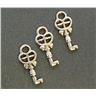 Storpack 15 x Nyckel nycklar hänge i tibetsilver - 8x18mm. Nickelfritt!