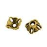 20 st Pärlhattar 7mm Antik Guld