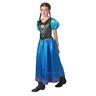 Anna 134-140cl (9-10 år) Frozen Frost SNOW QUEEN klänning Prinsessa