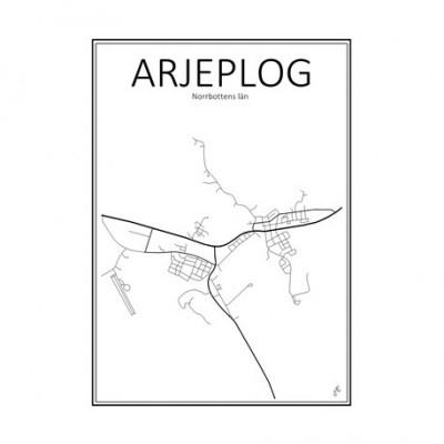 Stadskarta - Norrbottens län (Boden,30x40 cm)