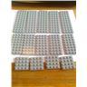 lego nytt 14st ljusgrå platta plattor 4x12 , 4x8 , 4x4