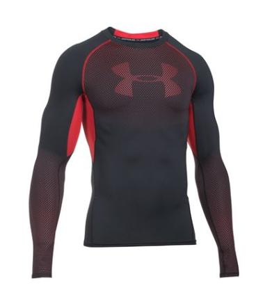 Under Armour - HeatGear Printed LS Compression Shirt Black
