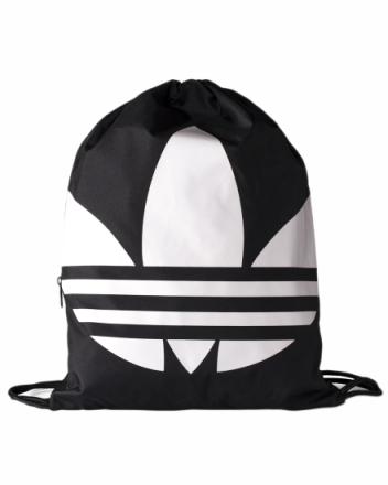 Gymsack Trefoil black/white