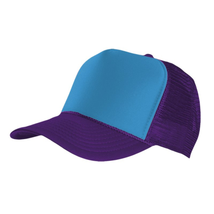 MasterDis Special Baseball Cap Trucker high profile Men Trucker Cap purple turquoise